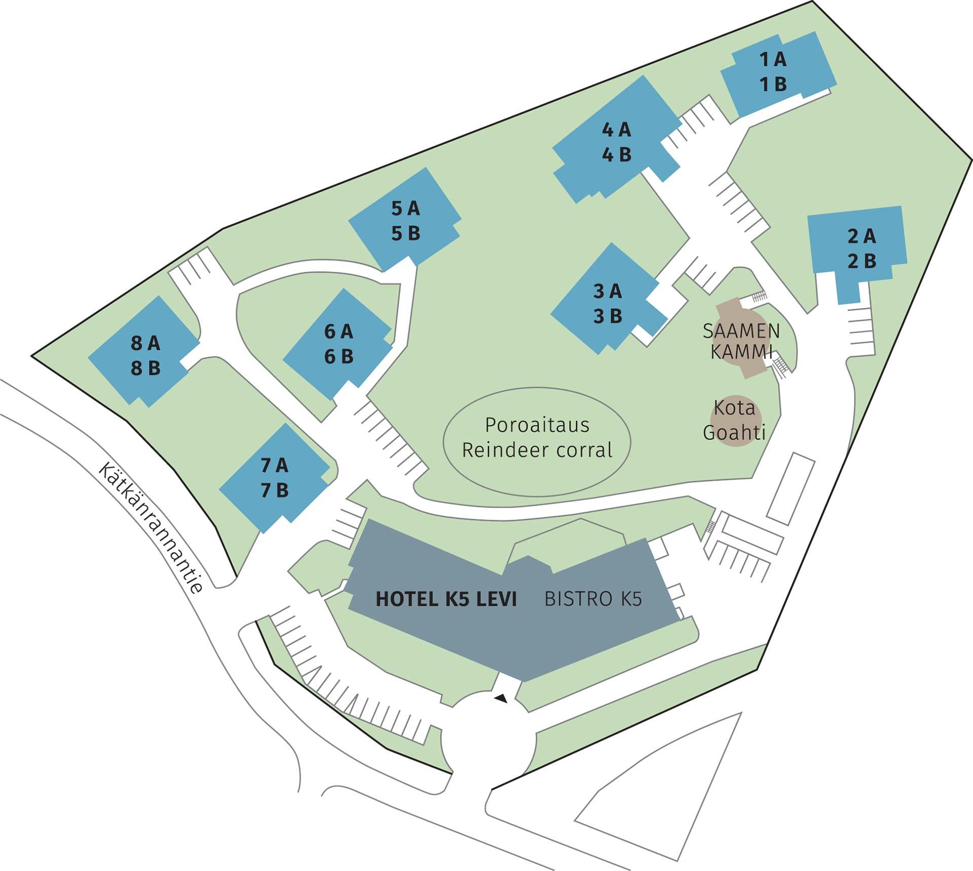k5 Villas Levi -asemapiirros