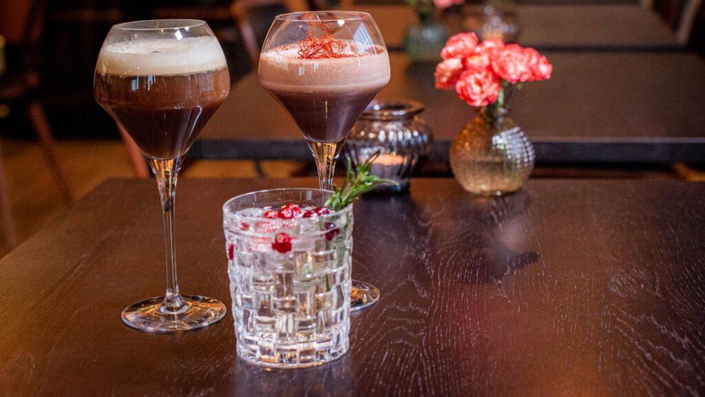 Ravintola Bistro K5:ssä saa myös drinkkejä nautittavaksi mm. illallisen ohella Levillä.