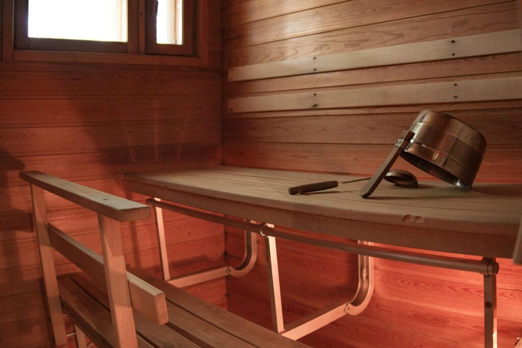 K5 Villas lomahuoneiston sauna Levillä.