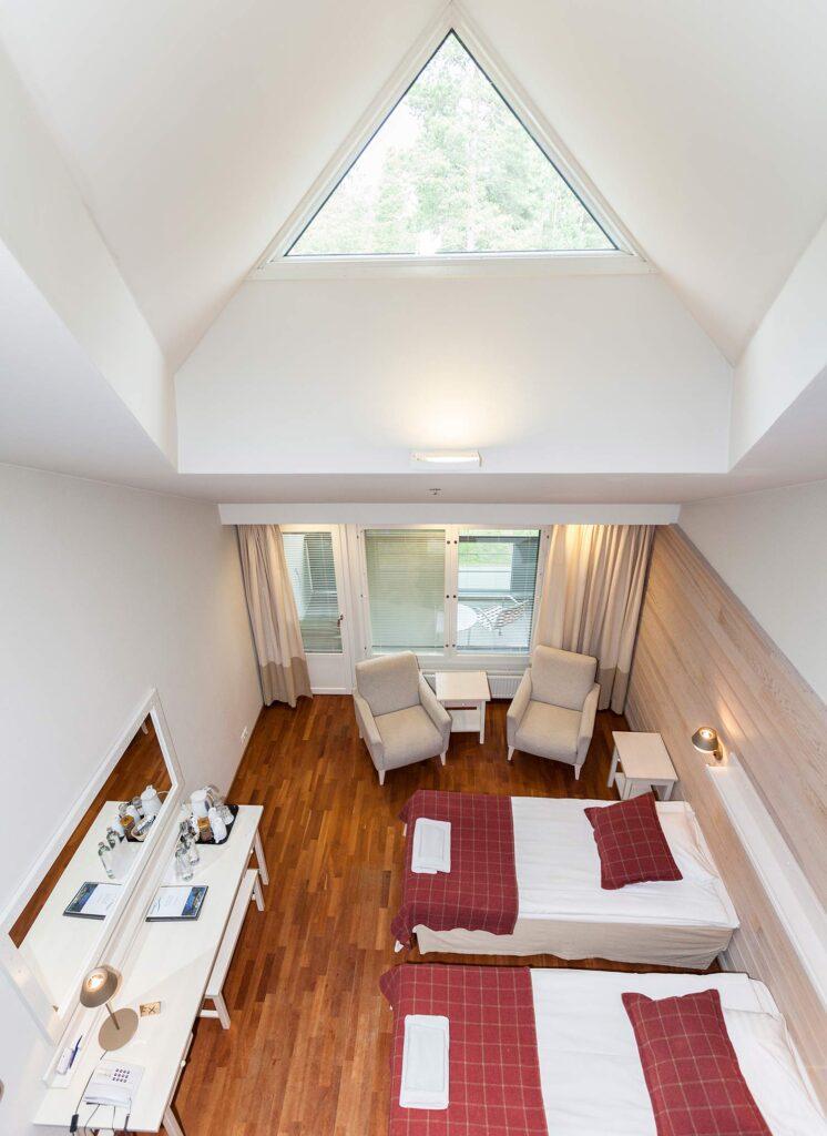Spacious Supeior room in Hotel K5 Levi accommodates four.